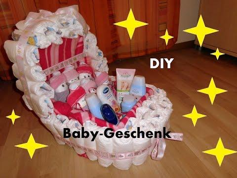 Windelnwagen - Baby - Geschenk ♥ Kinderwagen aus Windeln