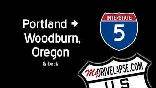 Interstate 5: South of Portland, Coming & Going Dashcam