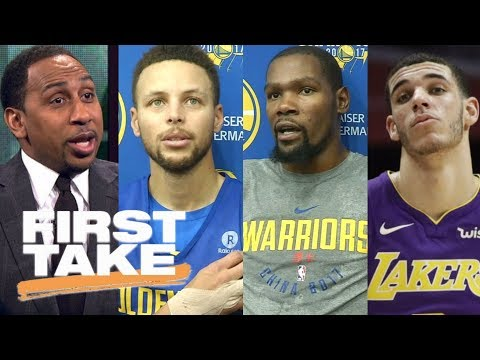 Stephen A. says Steph Curry & Kevin Durant aren't telling truth about Lonzo Ball | First Take | ESPN