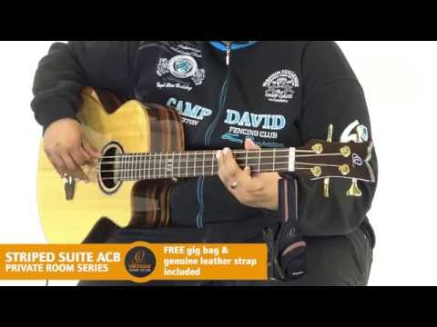 ORTEGA GUITARS | STRIPED SUITE ACB - PRIVATE ROOM SERIES (Acoustic Bass Guitar)