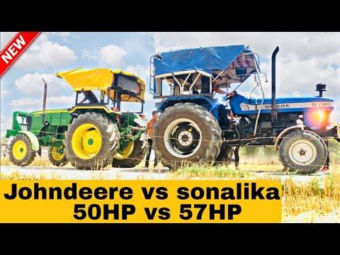 Sonalika750 & Sonalika60 Trali pulling - игровое видео смотреть