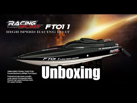 FT011 RC Racing Boat Brushles 4s Unboxing