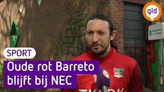 Barreto nog een jaar door bij NEC: 'Ik ben fit genoeg, dus waarom niet?'