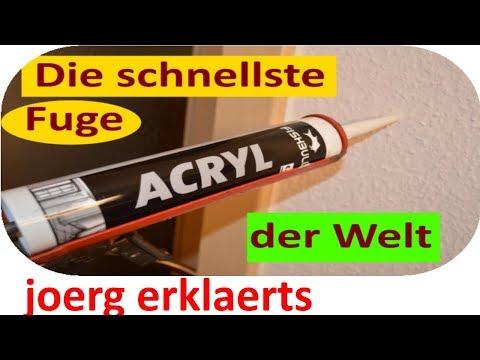 Richtig verfugen mit Acryl Acrylfuge ziehen Tutorial Nr. 144