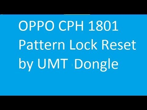 Oppo A71 Cph1801 Qualcomm Cpu Pattern Pin Unlock Solution 2