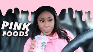 I ONLY ATE PINK FOODS FOR 24 HOUR CHALLENGE