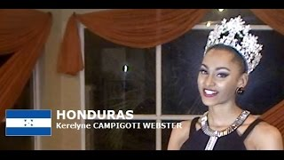 Kerelyne Campigoti Webster Contestant from Honduras for Miss World 2016 Introduction
