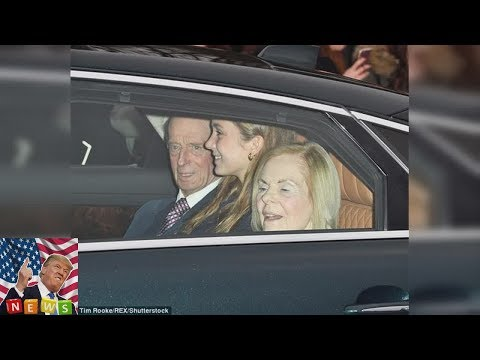 Amelia and Marina Windsor arrive at Buckingham Palace  Amelia has arrived for Christmas lunch wit
