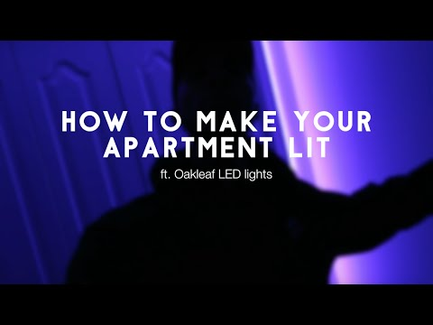 HOW TO MAKE YOUR APARTMENT LIT | DIY ft. Oak Leaf LED Lights