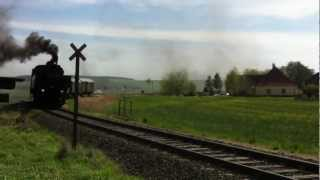 preview picture of video 'Dsa Erste Fahrt den Reeblausexpres anfang der Sezone 2012 in Waschbach-Pleißing NÖ.MOV'