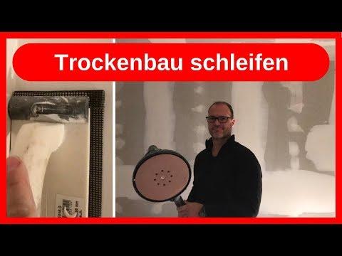 Trockenbau Fugen schleifen, Wände in Q2 (tapezierfähig) herstellen / Dachausbau