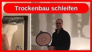 Trockenbau Fugen schleifen, Wände in Q2 tapezierfähig herstellen / Innenausbau - Dachausbau DIY