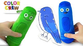 Learning Colors! | Learn Colors with Animals for Kids | Color Crew LIVE Kids Toys | BabyFirst
