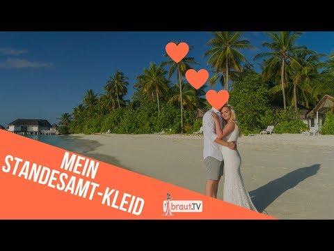 Mein Brautkleid für die standesamtliche Trauung & Haarschmuck | Mermaid Brautkleid | braut.TV