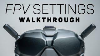 DJI FPV Drone - Full Settings & Menu Walkthrough