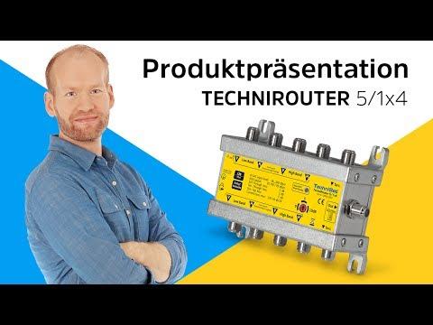 TECHNIROUTER 5/1x4 | Die digitale Einkabellösung ohne Programmeinschränkung | TechniSat