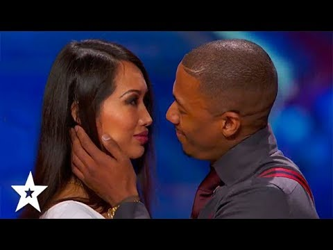 AWKWARD KISSING! America's Got Talent | Got Talent Global (видео)