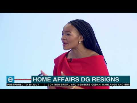 Outgoing Home Affairs Director General Mkuseli Apleni speaks to eNCA