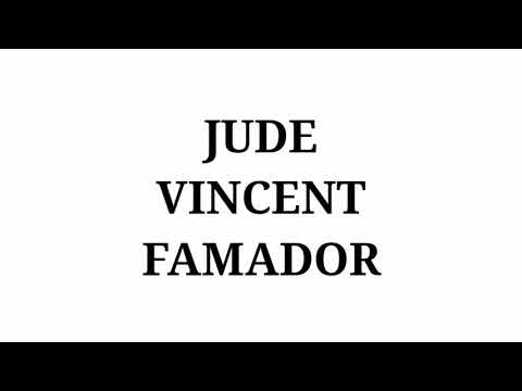 Jude Vincent Famador Intro 2019