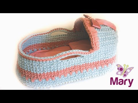 Culla all'uncinetto | port enfant | baby basket crochet