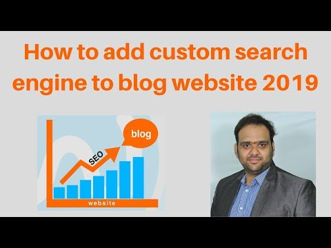 How to add custom search engine to blog website 2019