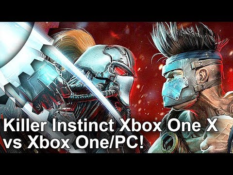 [4K] Killer Instinct Xbox One X vs PC vs Xbox One Graphics Comparison + Frame-Rate Test