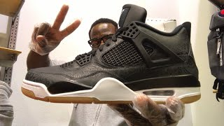 HE HATED ON MY YOUTUBE VIDEO/ BLACK LASER JORDAN 4 REVIEW!!