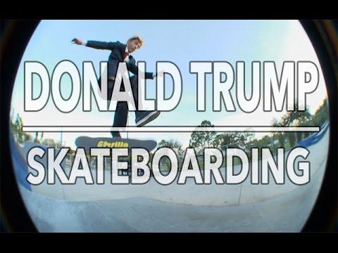 Donald Trump Skateboarding