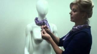 Как завязывать платки с использованием фурнитуры (часть 1)
