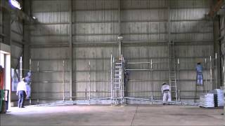 「くさび式足場で簡単DIY!倉庫に棚を作っちゃおう【オールサポート】」動画イメージ