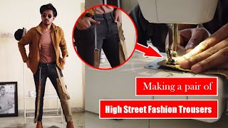 Making A Pair Of High Street Fashion Denims At Home