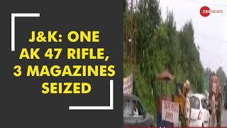 Jammu-Srinagar highway attack: One AK 47 rifle and 3 magazines seized from an intercepted truck
