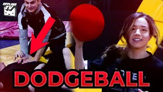 HE GOT KNOCKED OUT! OFFLINETV TRIES DODGEBALL ft. Pokimane LilyPichu DisguisedToast Fedmyster Scarra
