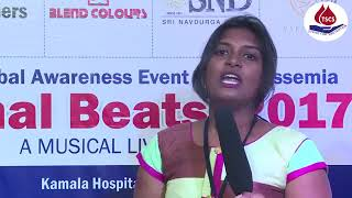 Dr Manasa Speech At Thalassemia and Sickle Cell Society's Thal Beat