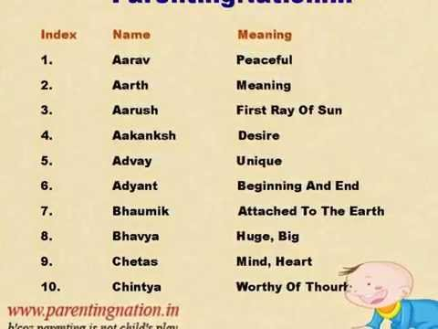 Unique Baby Boy Names With Meanings
