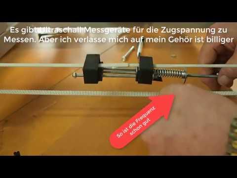 Zahnriemen Spanner Zusammenbau und Test (Toothed belt tensioner with tension adjustment)
