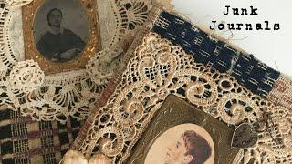 Junk Journal Flip Through ~ Antique Embellished Handmade Journals