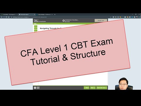 CFA Level 1 Computer Based Testing (CBT) Exam Tutorial and ...