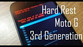 Motorola Moto G/G2/G3/G4/E2/X2/X Play hard reset 3rd/2nd/1st generation XT 1550 hard reset