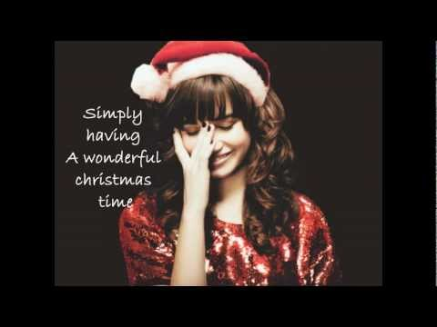 demi lovato wonderful christmas time lyrics - Simply Having A Wonderful Christmas Time Lyrics