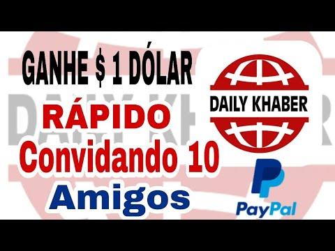 Como ganhar $ 1 DÓLAR no paypal convidando 10 amigos - Daily Khaber