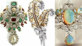 Gorgeous & Beautiful Diamond Brooches Designs With Gemstone