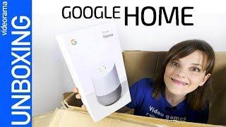 Google Home unboxing, configuración y primer contacto - el altavoz INTELIGENTE en español-