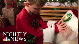 Santa Helps A 6-Year-Old Who Is Blind And Has Autism Feel The Spirit Of Christmas | NBC Nightly News