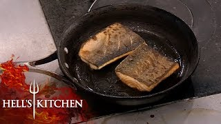 Professional Chef Has No Idea How To Cook Fish & BURNS IT | Hell's Kitchen