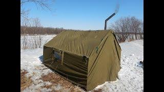 Зимние палатки с печкой для ночлега