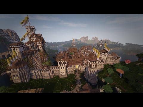 Lets Show Minecraft Town Wall Stadtmauer Minecraft Project - Minecraft wikinger hauser