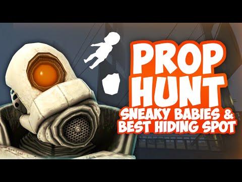 Gmod prop hunt funny moments - sneaky babies best hiding spot