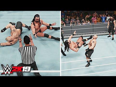 WWE 2K19 - Can Brock Lesnar Kickout of 11 Claymore Kicks?