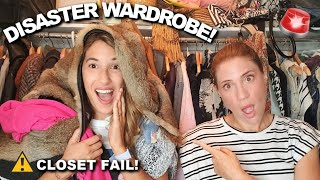 COMPLETE DISASTER! Wardrobe Declutter (Tried the KonMari Method)